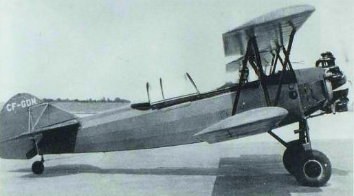 Russ Norman in his Fleet 16B, CF-GDM, used as a glider tug at Mount Hope in 1953. NORMAN COLLECTION