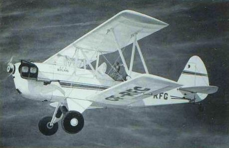 A crisp rendering of Russ's EAA Biplane, CF-RFG, by the late Robert Finlayson. NORMAN COLLECTION