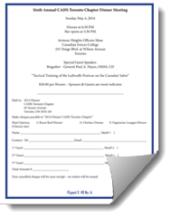 May Dinner Meeting Registration Form