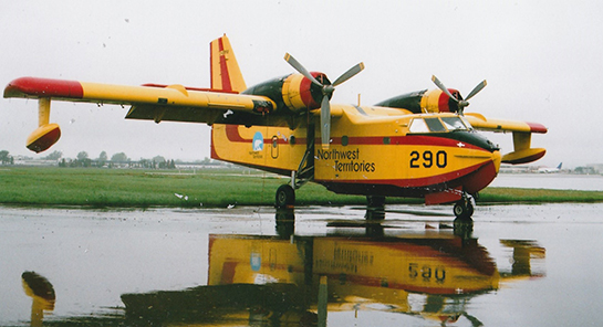 Canadair CL 215 C GBYU in Northwest Territories colours at Viking Air awaiting upgrade to a CL 215 G McNulty photo