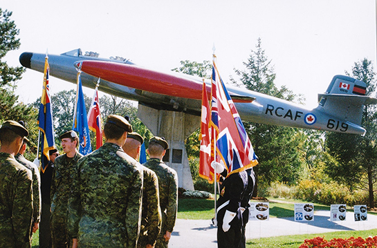 The Toronto Scottish Regiment participated in the CF 100 Rededication Ceremony with Streetsville Legion Branch 139