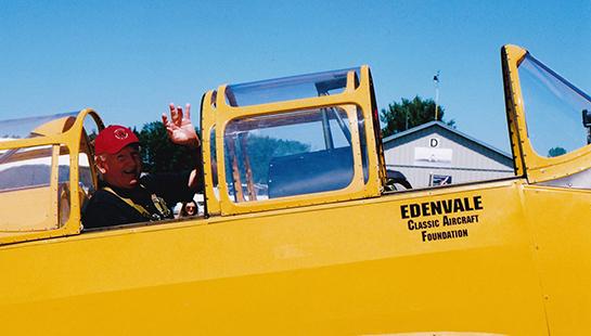 Rene McKinnon President of 427 RCAFA in ECAF Cornell 545