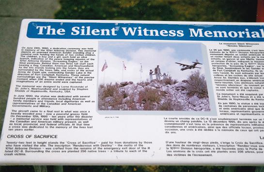 plaque at Silent Witness Memorial 2